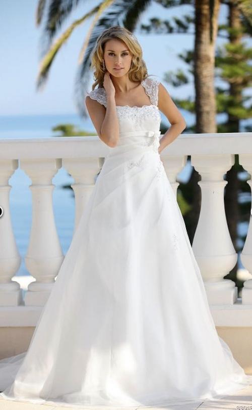 Свадебное платье бирюзового цвета фото 3